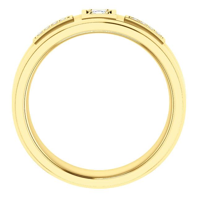 14K Yellow 1/6 CTW Diamond Men-s Ring
