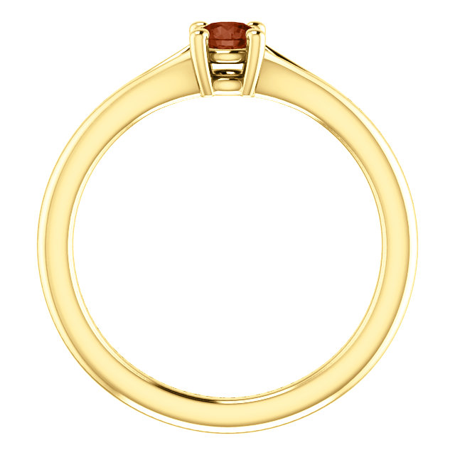 14K Yellow Garnet Youth Ring