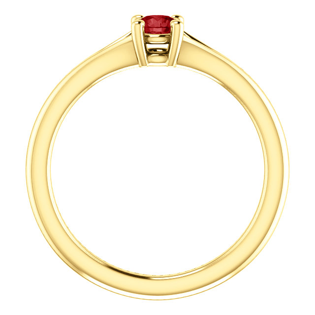 14K Yellow Chatham® Created Ruby Youth Ring