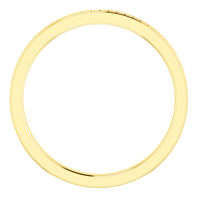 14K Yellow Stackable Bead Ring Size 7