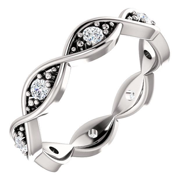 14K White 1/6 CTW Diamond Infinity-Inspired Eternity Band 7