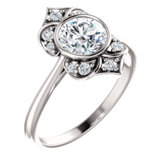 Halo-Style Bezel-Set Engagement Ring or Band