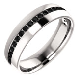 Accented Wedding Band