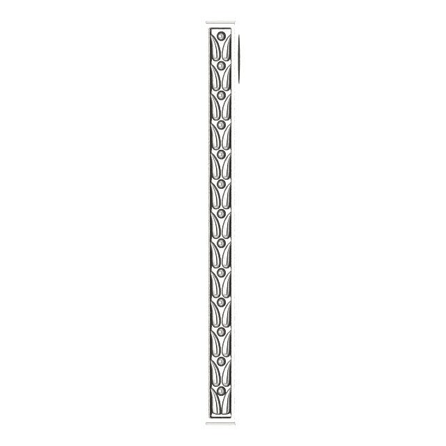 Sterling Silver 26.4x2.1 mm Sculptural-Inspired Bar Pendant
