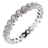 Milgrain Edge Eternity Band
