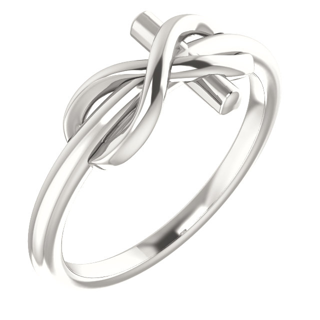Sterling Silver Infinity-Inspired Cross Ring