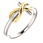 Infinity-Inspired Cross Ring