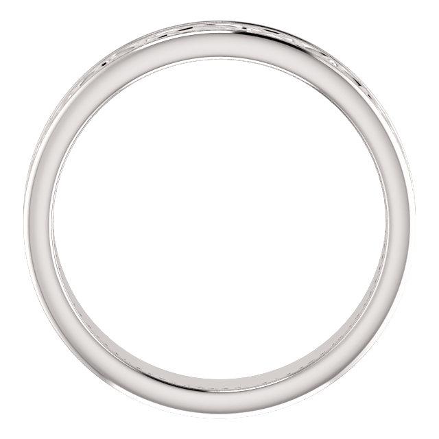 Platinum 5mm Celtic-Inspired Band Size 9