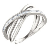 Channel Set Criss Cross Ring
