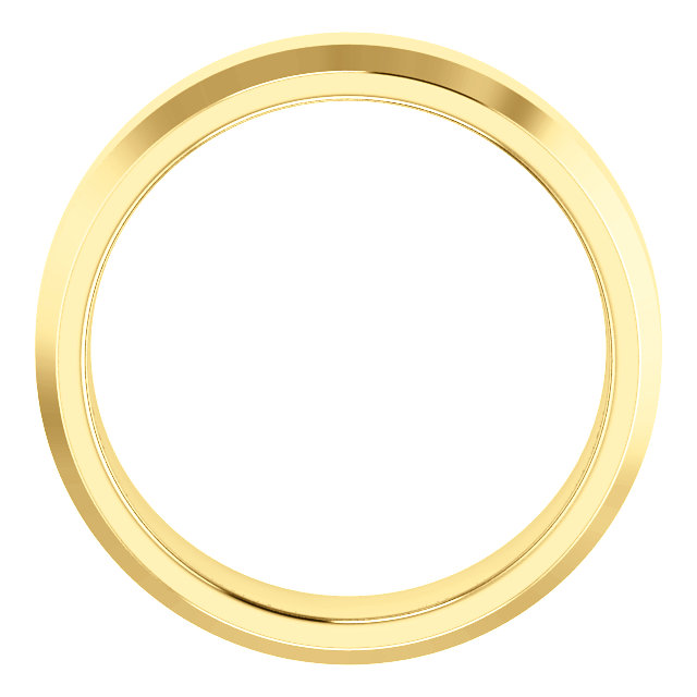 14K Yellow 6 mm Beveled-Edge Comfort-Fit Band Size 9