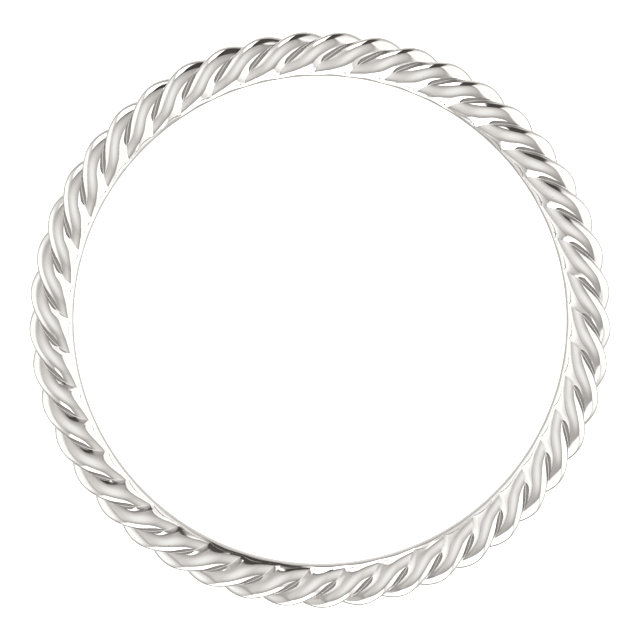 Sterling Silver Skinny Rope Band Size 8