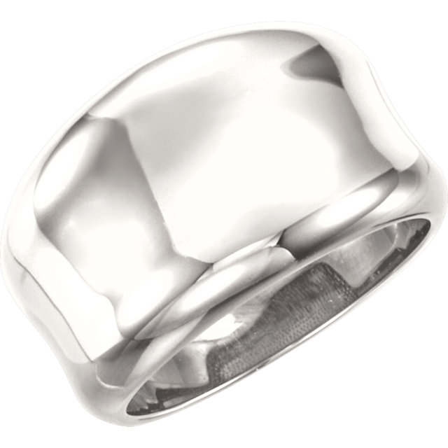 Continuum Sterling Silver Concave Ring