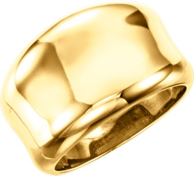 Fashion Rings , 14K Yellow Concave Ring