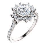 French-Set Halo-Style Engagement Ring or Band