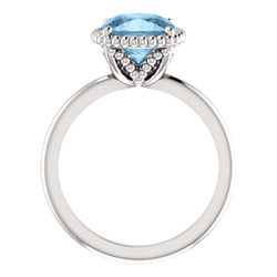 Beaded Solitaire Ring