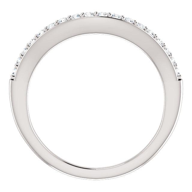 14K White 1/4 CTW Diamond Matching Band