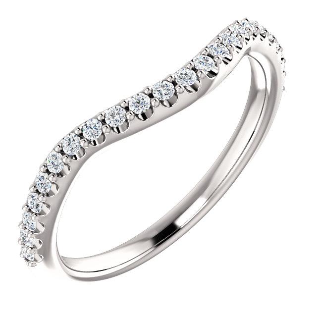 14K White 1/5 CTW Diamond Matching Band