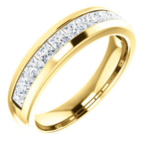 14K Yellow 6 mm 3/4 CTW Diamond Men-s Band Size 11