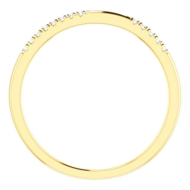 14K Yellow 1/10 CTW Diamond Matching Band