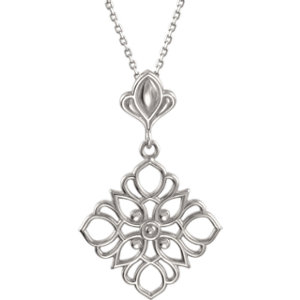 Sterling Silver Decorative Dangle 18