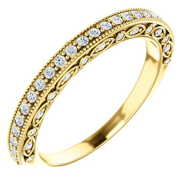14K Yellow 1/3 CTW Diamond Matching Band