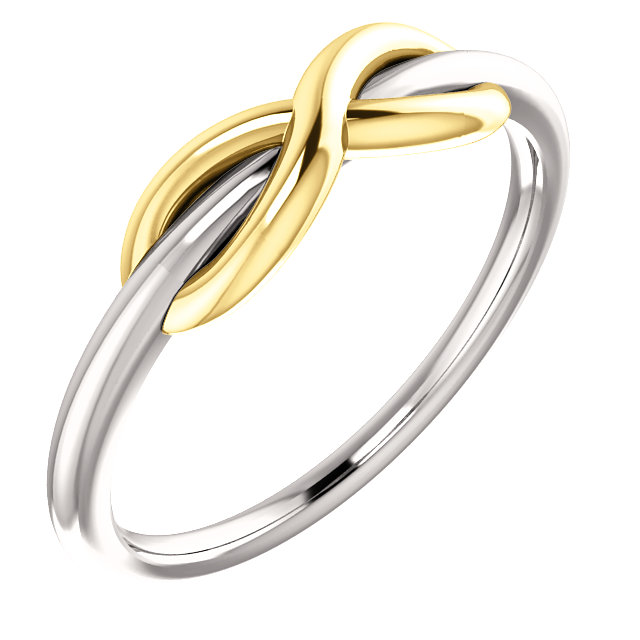 14K White & Yellow Infinity-Style Ring