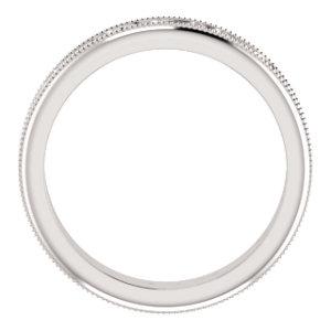 14K White 2.5mm Band Size 5.5