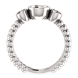 Three-Stone Bezel-Set Ring
