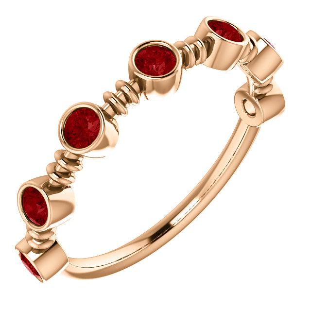 14K Rose  Ruby Ring