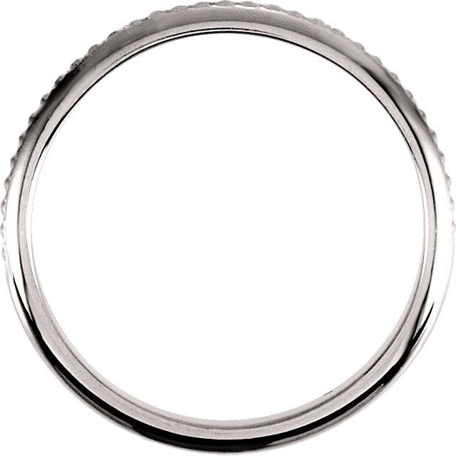 14K White 2mm Design Band Size 6