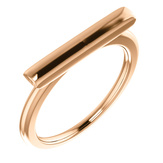14K Rose Bar Ring
