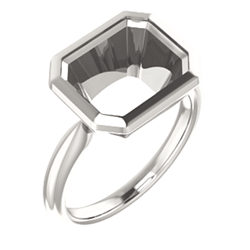 Solitaire Bezel-Set Ring