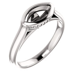 Bezel-Set Solitaire Ring