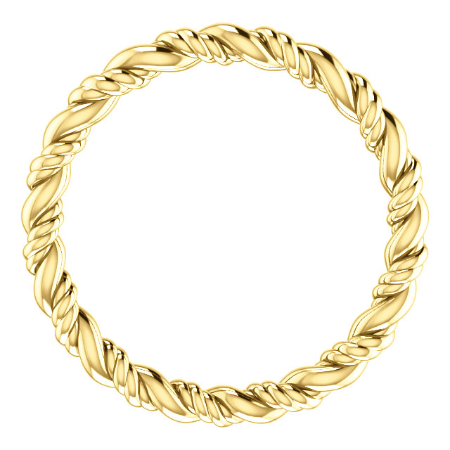 14K Yellow Rope Eternity Band Size 4.5