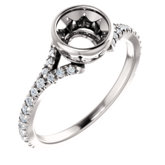 Bezel-Set Engagement Ring or Band