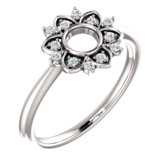 Accented Starburst Ring