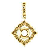 Halo-Style Clover Pendant