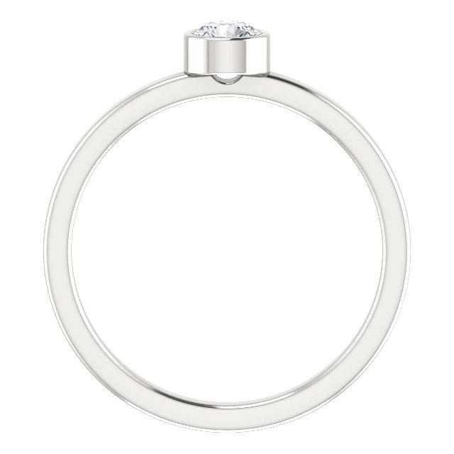 Sterling Silver Imitation Diamond Ring