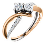 Two-Stone Engagement Ring or Band