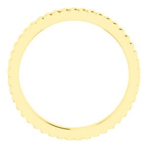 14K Yellow Wedding Band Size 7