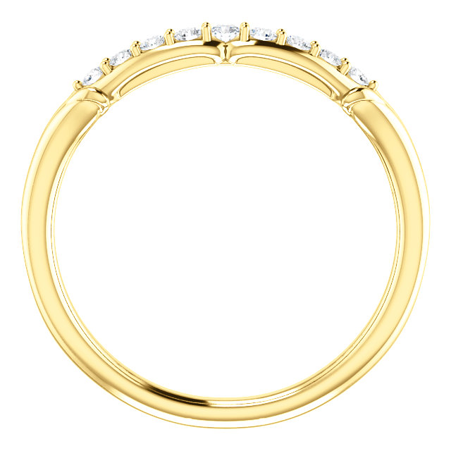 14K Yellow 1/6 CTW Diamond Floral-Inspired Band