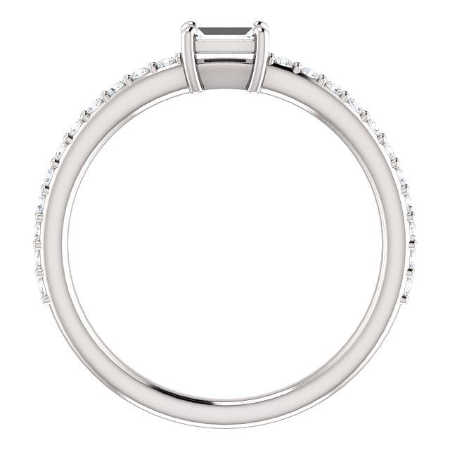 14K White 1/3 CTW Diamond Ring