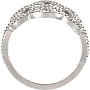 Sterling Silver Granulated Design Ring