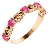 Accented Stackable Link Ring