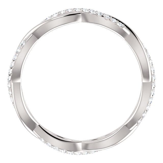 Platinum 1/5 CTW Diamond Eternity Band Size 6