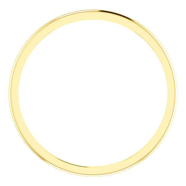 10K Yellow 1 mm Half Round Band Size 5