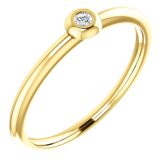 14K Yellow .03 CTW Diamond Stackable Ring