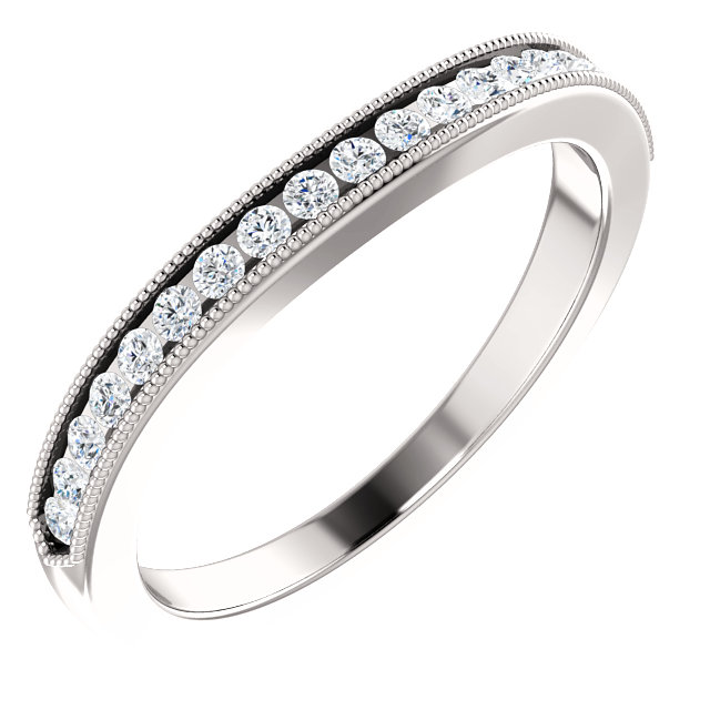14K White 1/3 CTW Diamond Band
