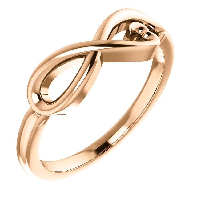 14K Rose Infinity-Inspired Heart Ring