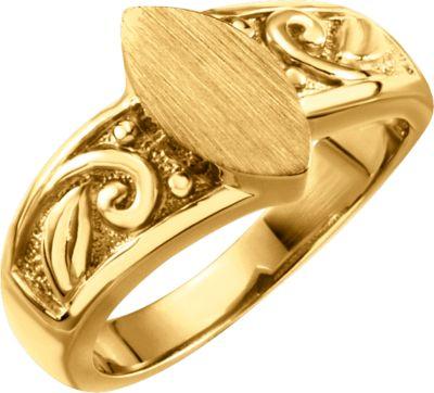 Fashion Rings , 14K Yellow Ladies' Signet Ring